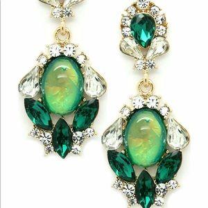 Olivia Welles emerald earrings